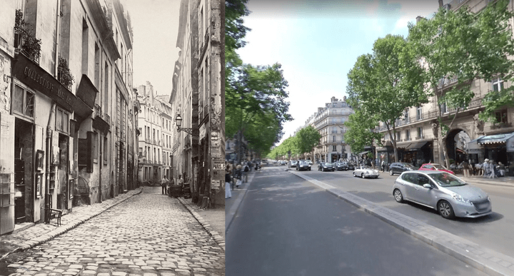 Old streets of Paris compared to the wide boulevards