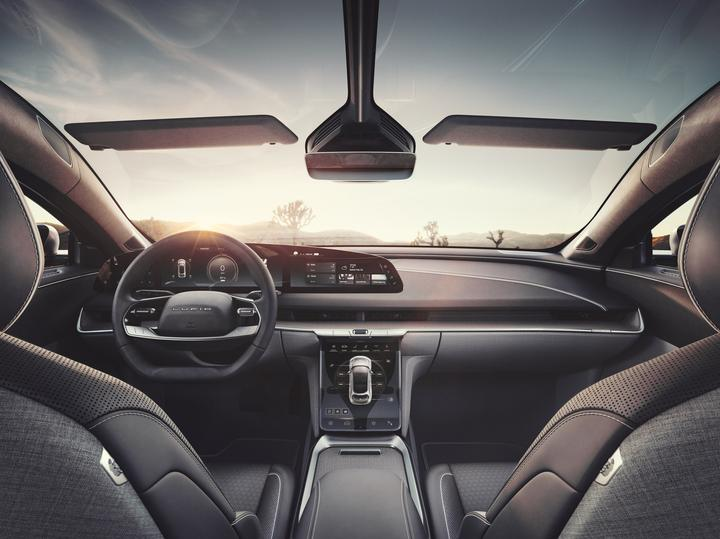 The interior of the 2021 Lucid Air