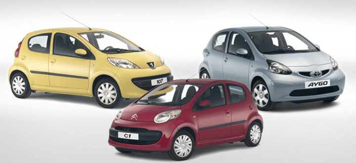 The Peugeot 107, Citroën C1, and Toyota Aygo share the same production line