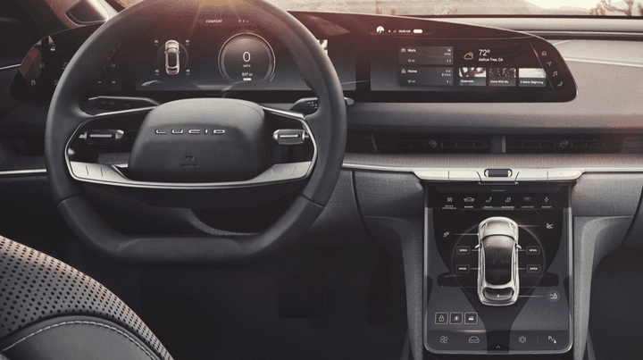 The infotainment system of the Lucid Air
