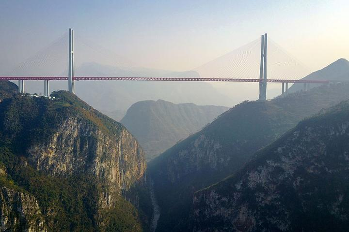 The Duge bridge, opened in 2016, is the highest bridge in the world at 565m