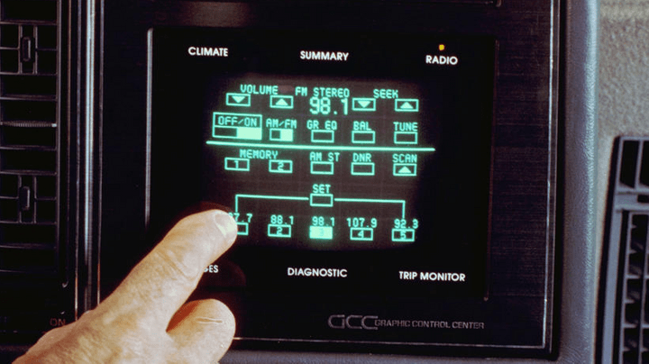 The touch screen of the 1986 Buick Riviera
