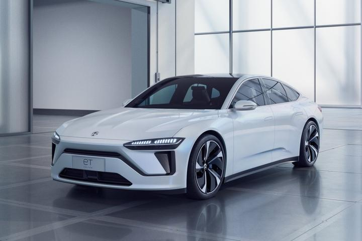 The NIO ET7 is a concept car showing the design direction of NIO